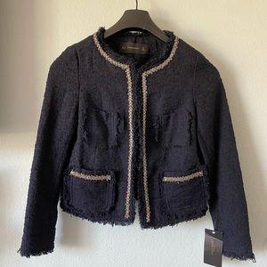 Zara Tweed Navy Blazer Size Small NEW size small